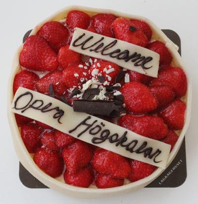 ASIMUT welcome cake for Operahögskolan
