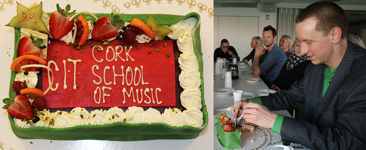 ASIMUT welcome cake for CIT Cork School of Music