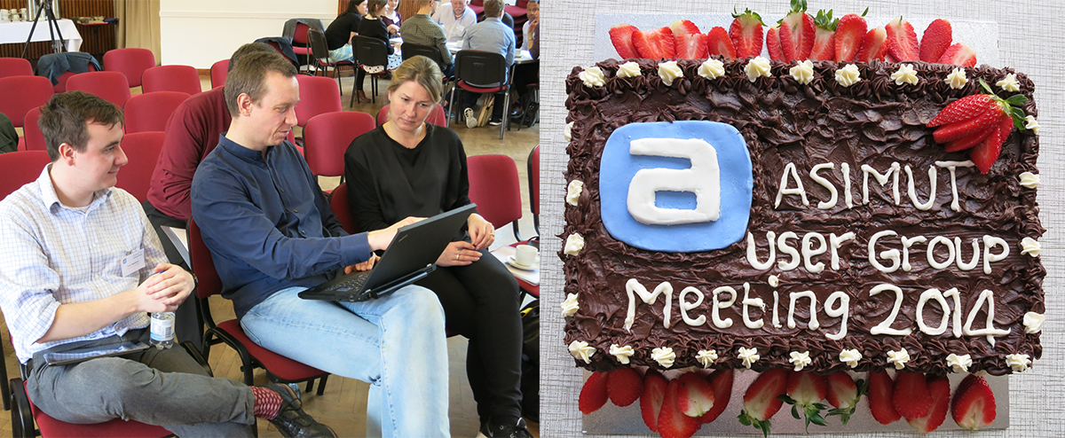 Discussions and cake at the ASIMUT user group meeting 2014