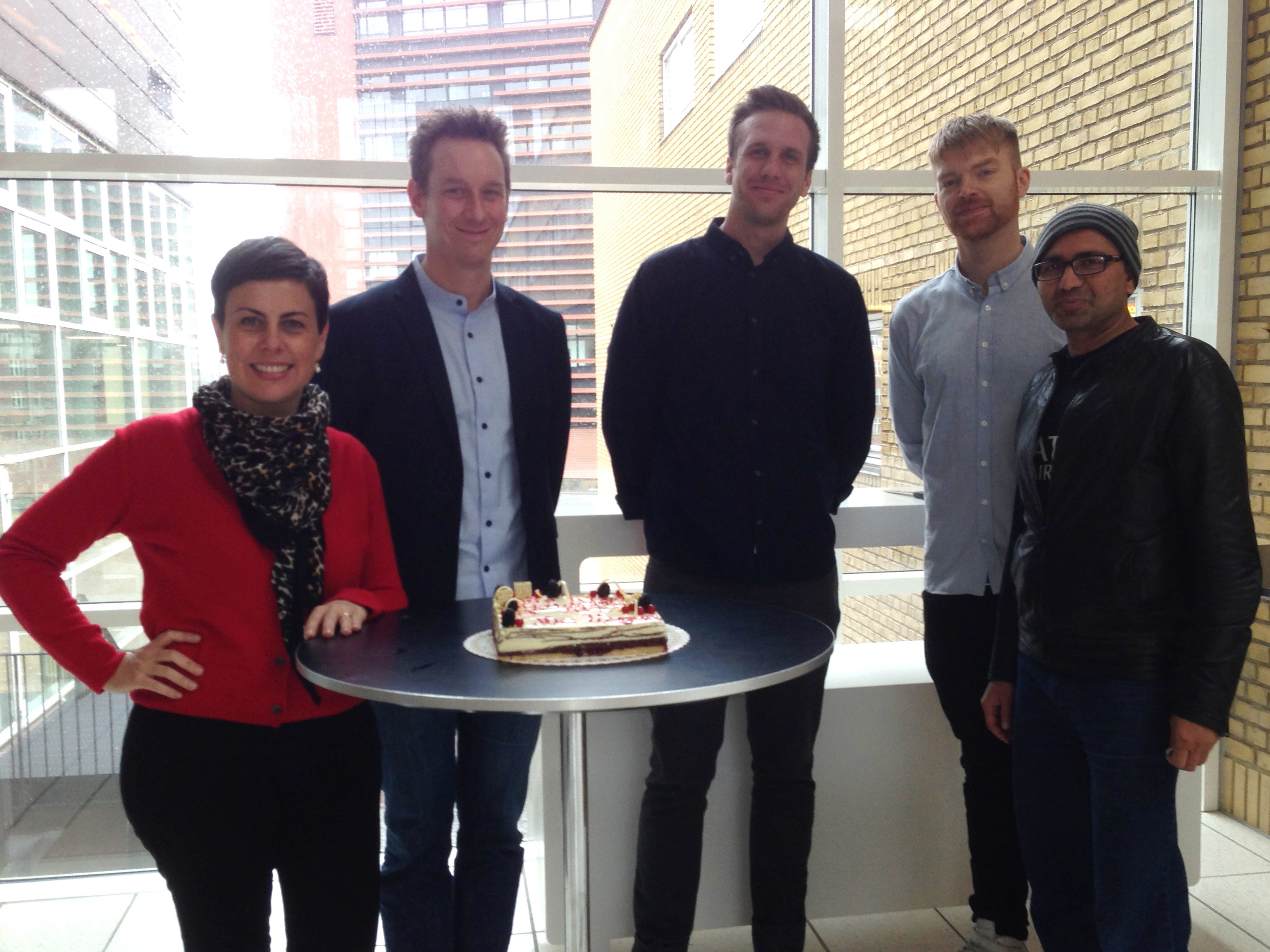 ASIMUT staff celebrating KABK as a new client