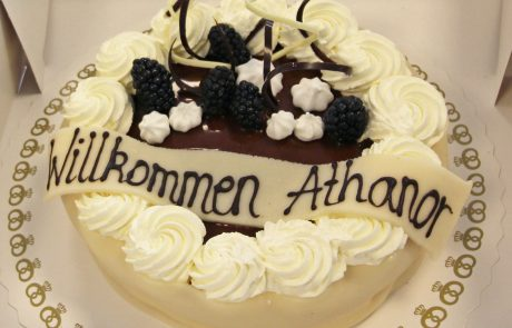 ASIMUT welcome cake for Athanor Akademie