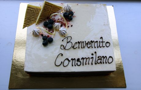 Welcome cake for Consmilano