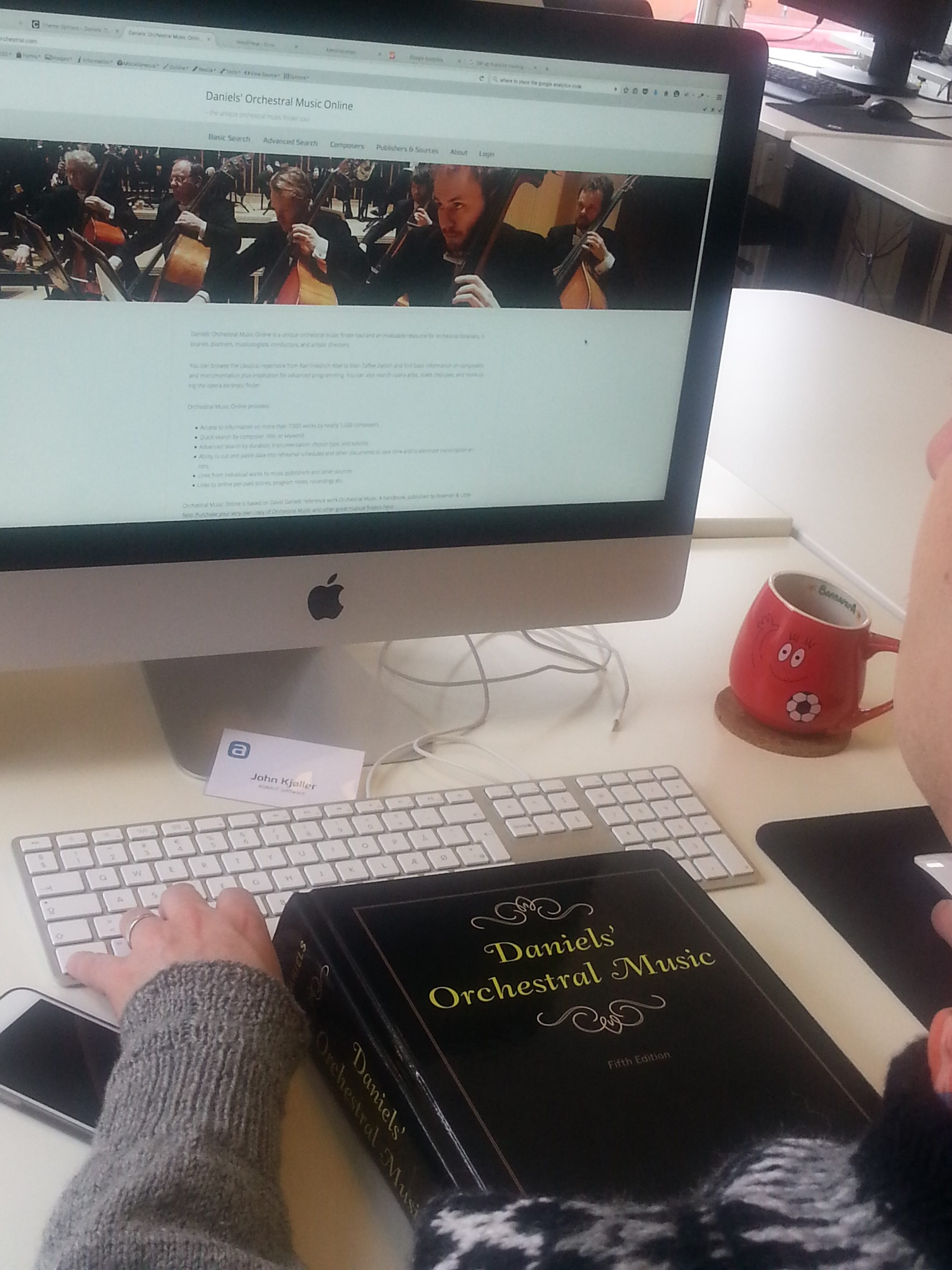 Working on Daniels' Orchestral Music Online