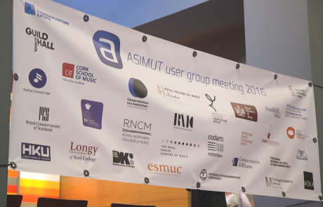ASIMUT banner at the user group meeting 2016