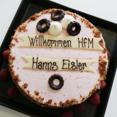 ASIMUT welcome cake for HfM Hanns Eisler, Berlin