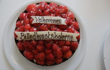 ASIMUT welcome cake for Billedkunstskolerne