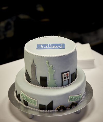 ASIMUT welcome cake for the Juilliard School