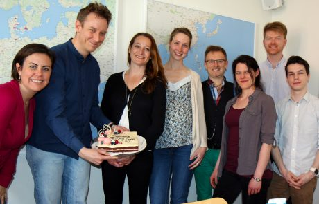 ASIMUT staff celebrating CNSMD Lyon as a new client