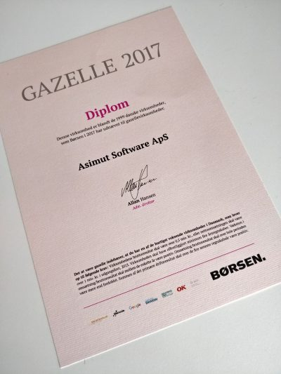 The Gazelle Diploma for ASIMUT software