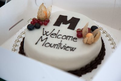 Welcome cake for Mountview