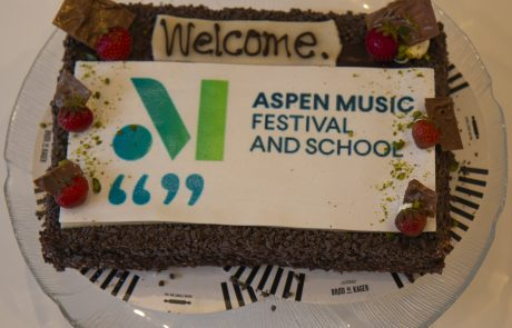 ASIMUT welcome cake for the Aspen Music Festival and School